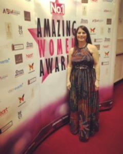 Madeleine Black on the red carpet at No1 Magazines Amazing Women Award Ceremony